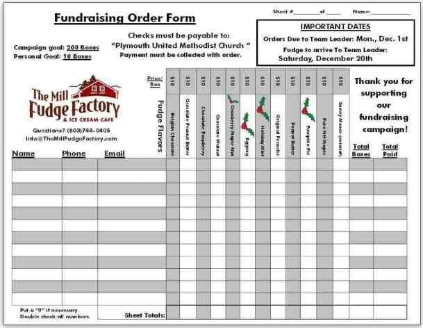 Blank Fundraiser order form Template Fundraiser order Templates Word Excel Samples