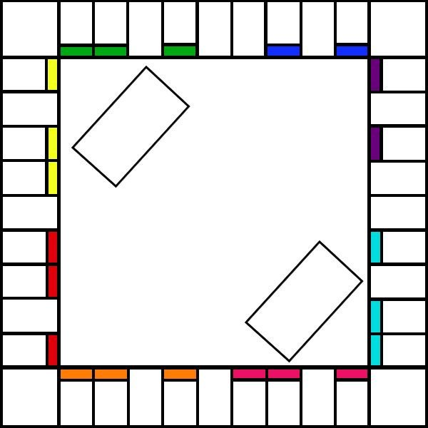 Blank Game Board Template Free Printable Blank Monopoly Game Template