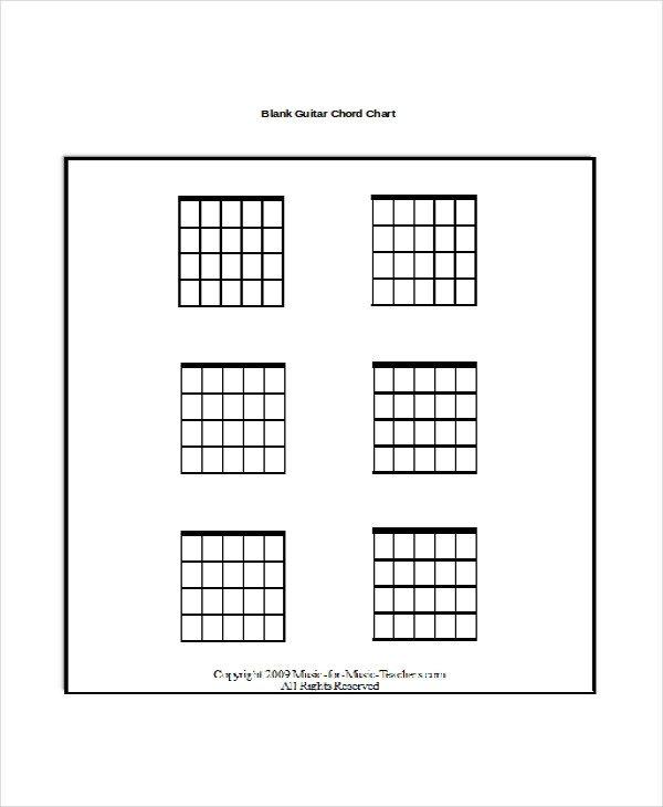 Blank Guitar Chord Chart 13 Guitar Chord Chart Templates Freesample Example