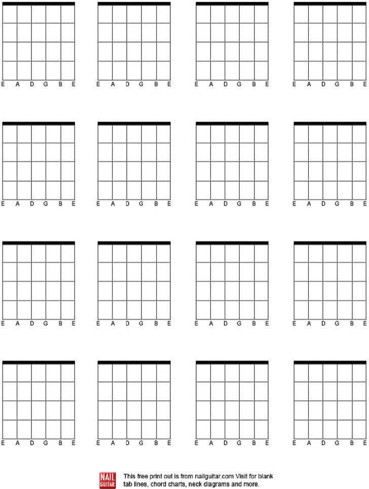 Blank Guitar Chord Chart 5 Blank Guitar Chord Charts Free Download