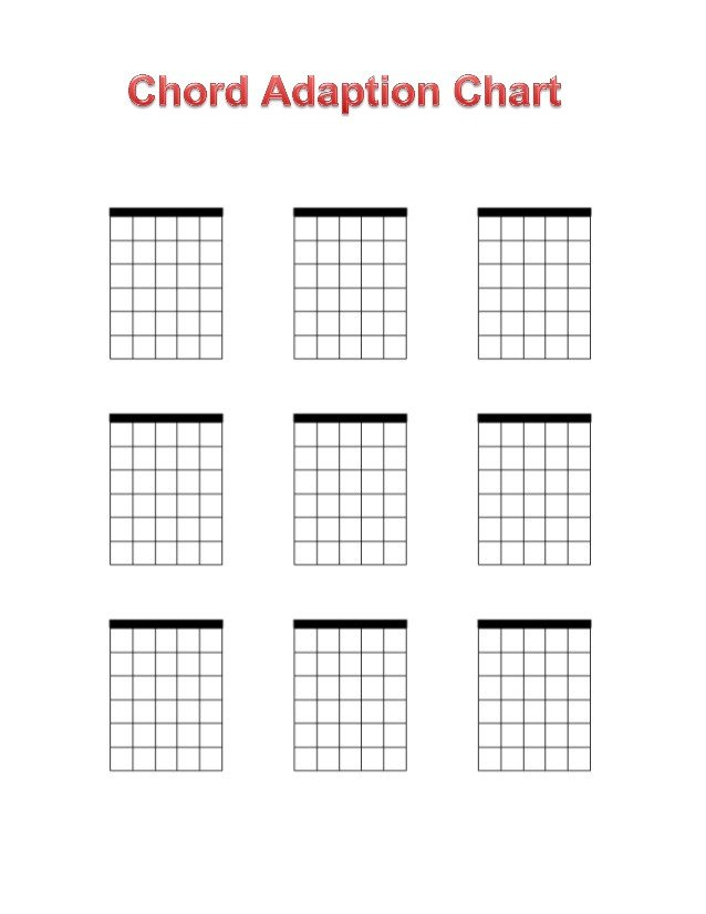 Blank Guitar Chord Chart Blank Chord Chart