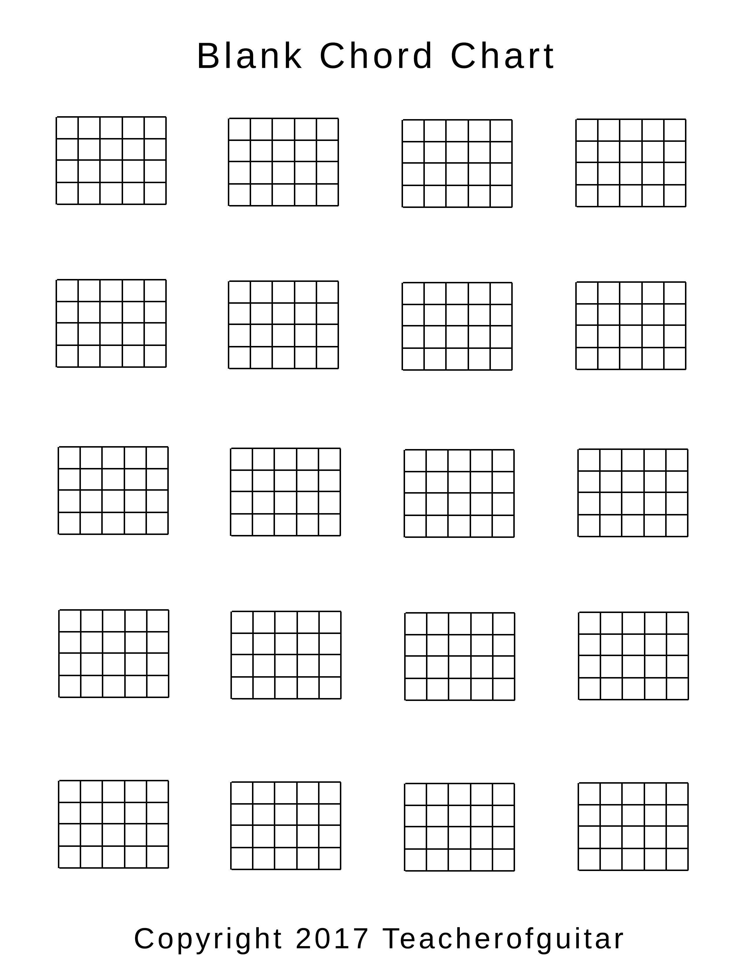Blank Guitar Chord Chart Blank Chord Chart Teacher Of Guitar