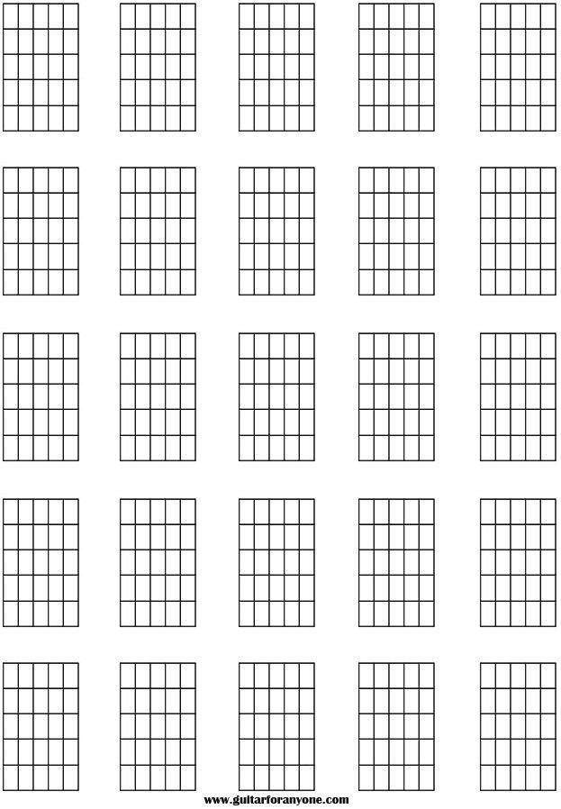 Blank Guitar Chord Chart Guitar Chord Names and Symbols Blank Chord