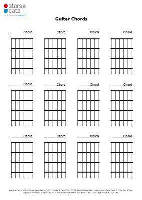Blank Guitar Chord Sheet 13 Printable Music Sheets