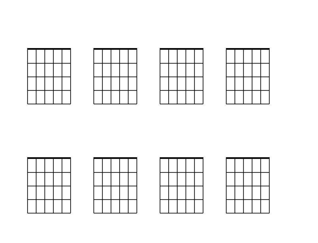 Blank Guitar Chord Sheet Blank Guitar Chord Chart