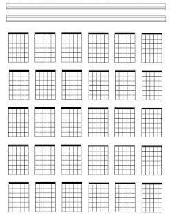 Blank Guitar Chord Sheet Blank Guitar Chord Sheets Guitar Pinterest