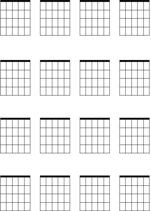 Blank Guitar Chord Sheet Blank Guitar Chord Sheets Printable