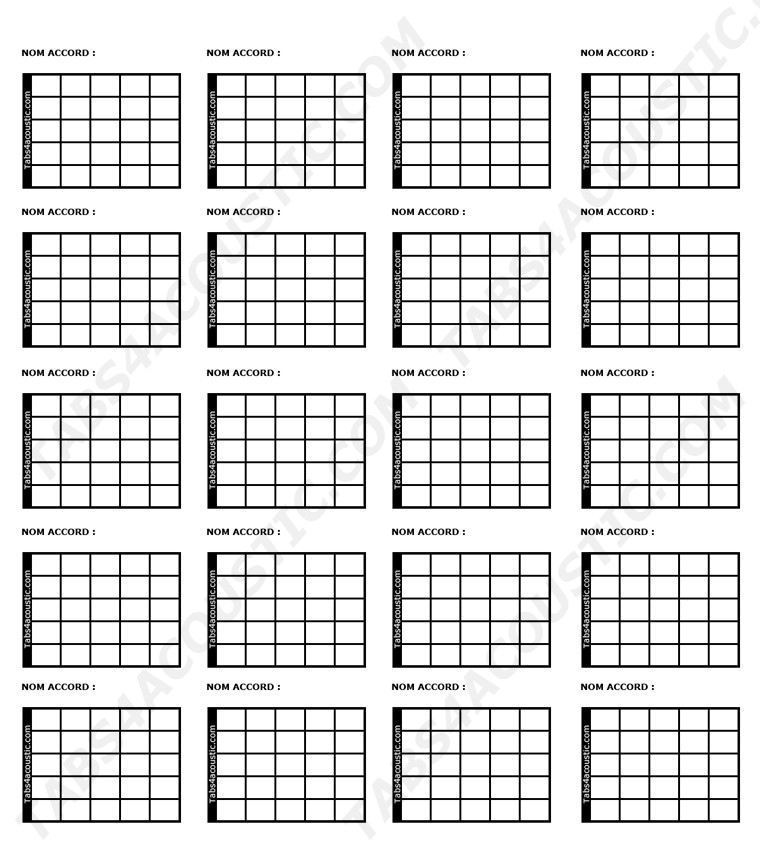 Blank Guitar Chord Sheet Free Guitar tools for Guitarists