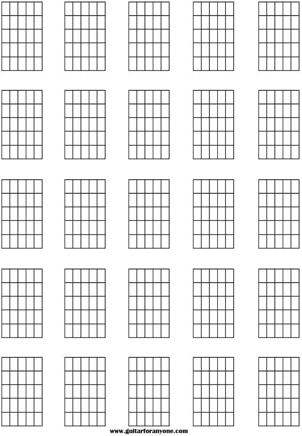 Blank Guitar Chord Sheet Guitar Chord Names and Symbols Blank Chord