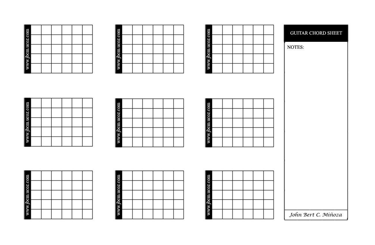 Blank Guitar Chord Sheet John Bert Cupat Miñoza Home Page