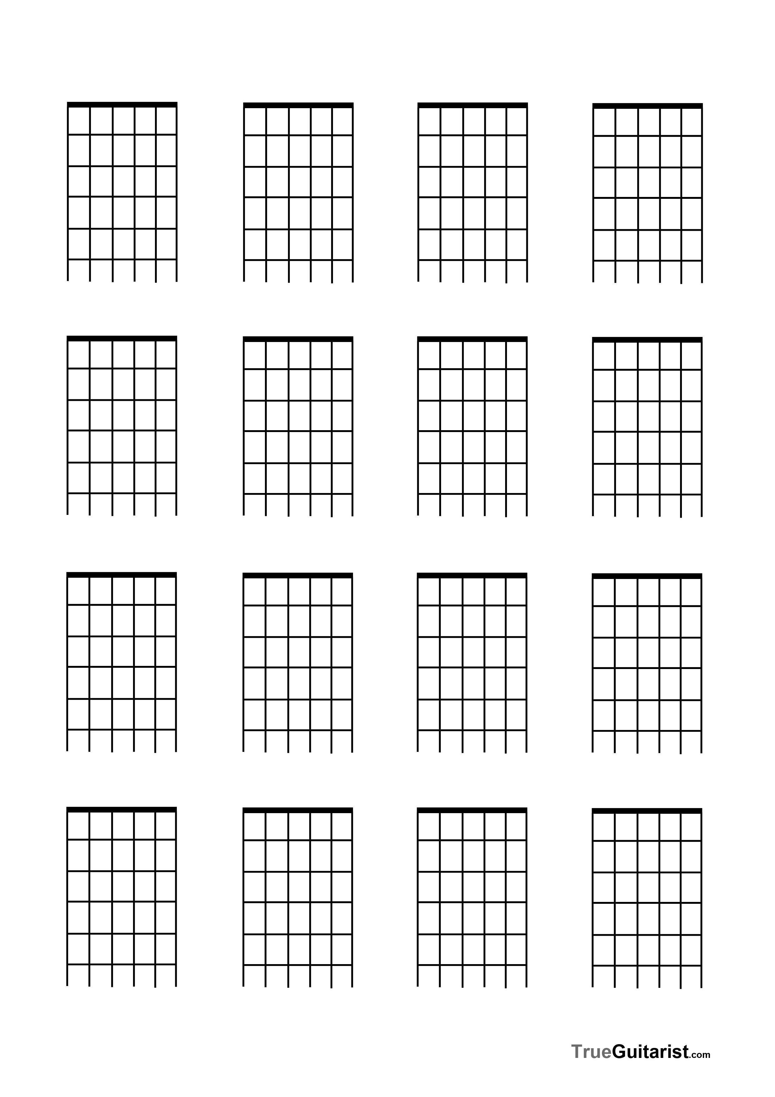 Blank Guitar Chord Sheet Pin by Jessica Avery On Matt