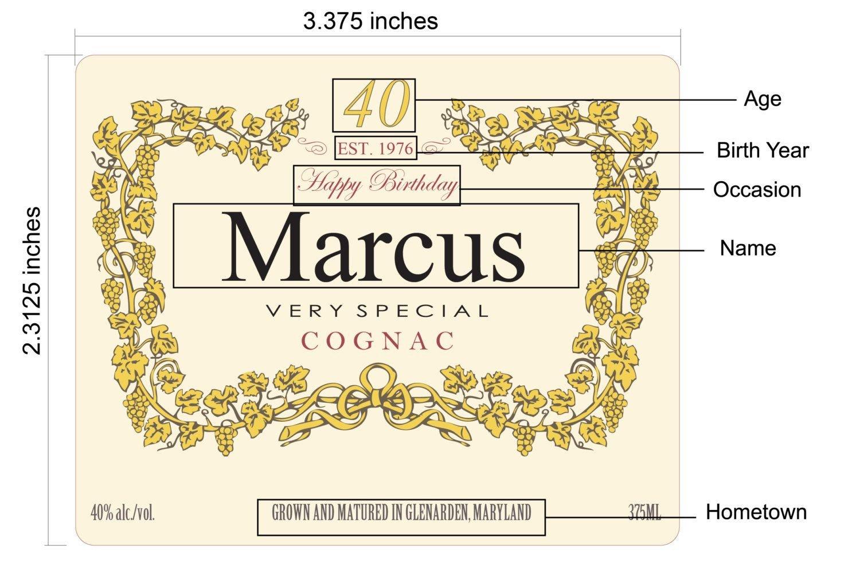Blank Hennessy Label Hennessy Bottle Label Printable 375ml Custom