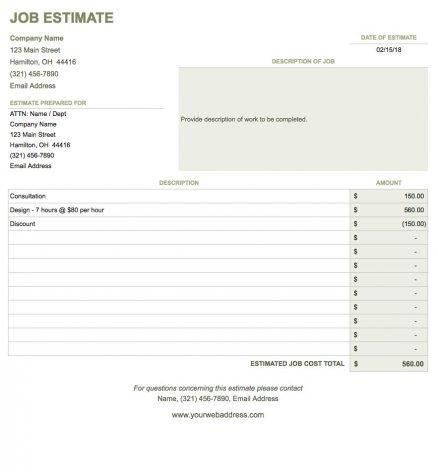 Blank Invoice Template Google Docs Blank Invoice Template Google Docs