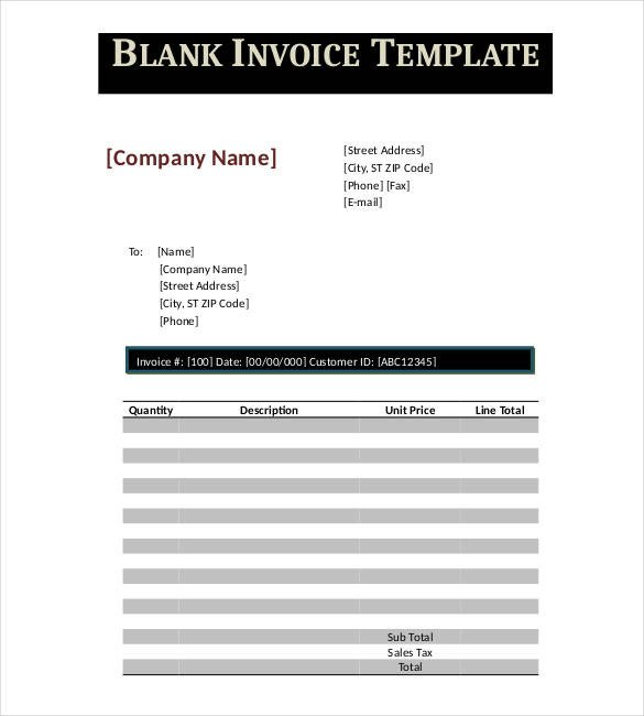 Blank Invoice Template Google Docs Google Invoice Template 25 Free Word Excel Pdf format