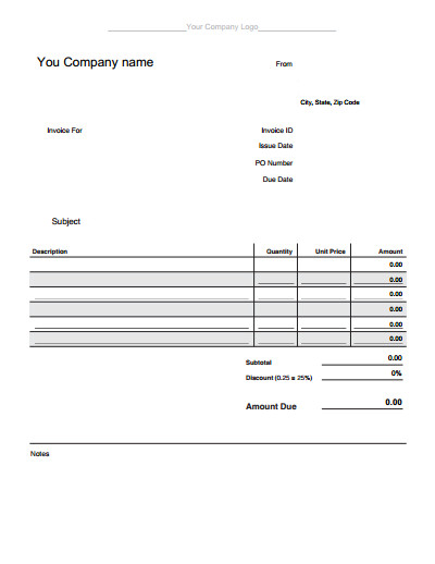 Blank Invoice Template Pdf Blank Invoice Template Download Create Edit Fill and