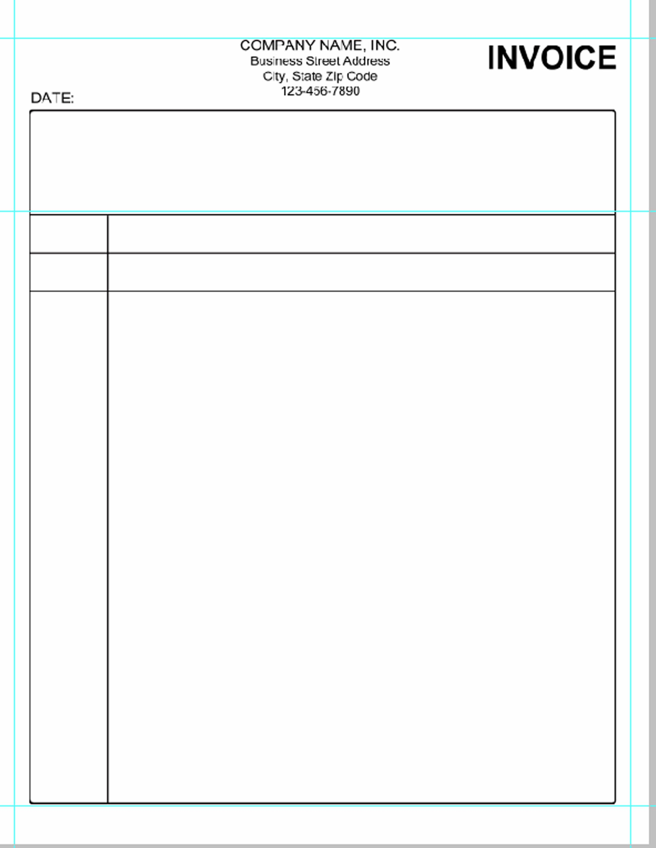 Blank Invoice Template Pdf Simple Invoice Template Pdf