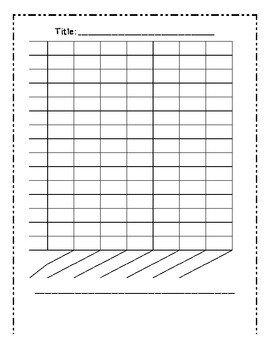 Blank Line Graph Template Blank Bar Graph Template 7 Columns by Mrs Cassady