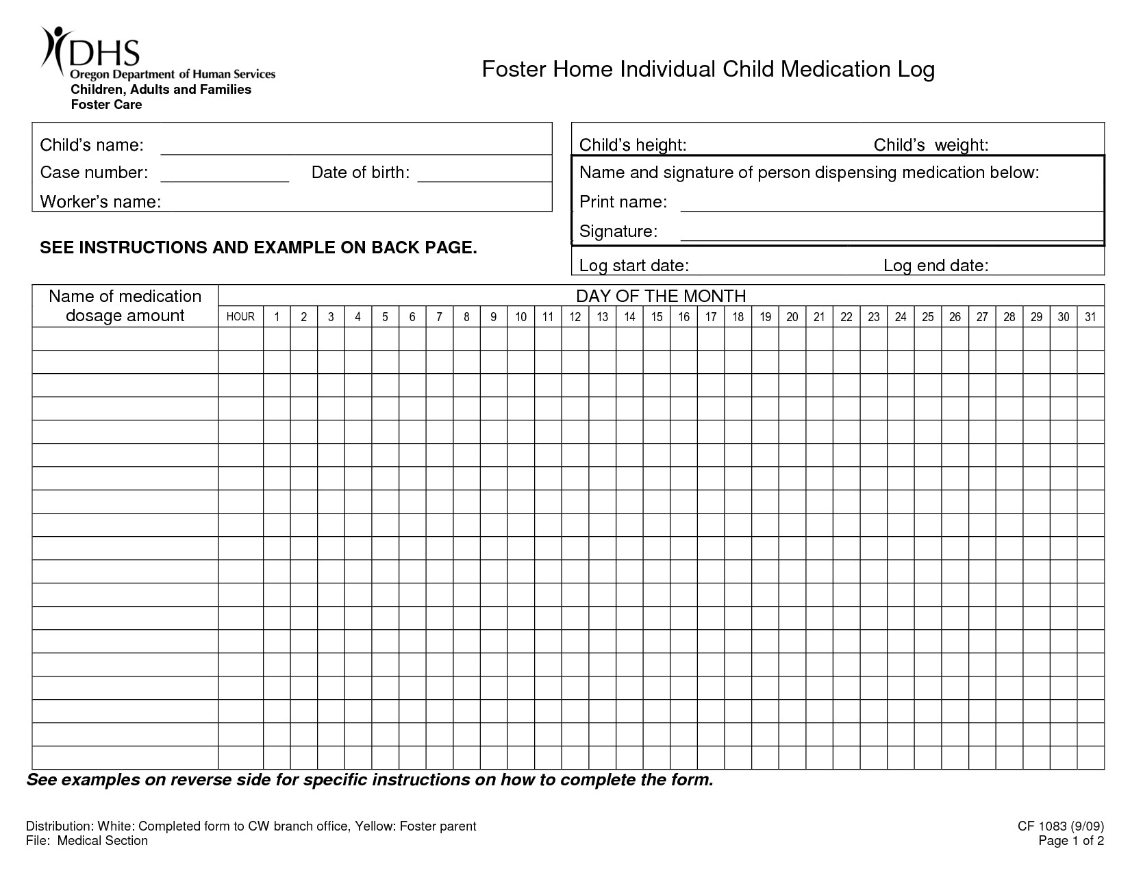 Blank Medication Administration Record Template 5 Best Of Printable Home Med Blank Medication