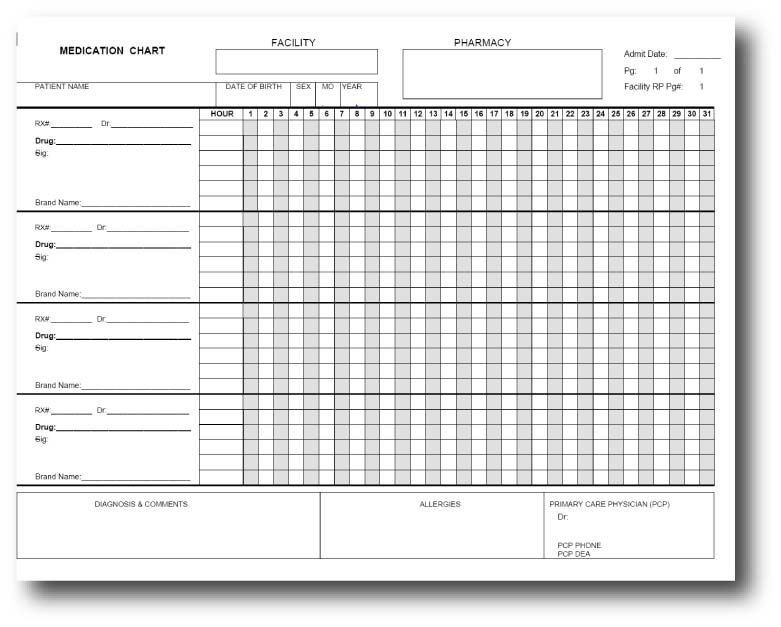 Blank Medication Administration Record Template Free Medication Administration Record Template Excel