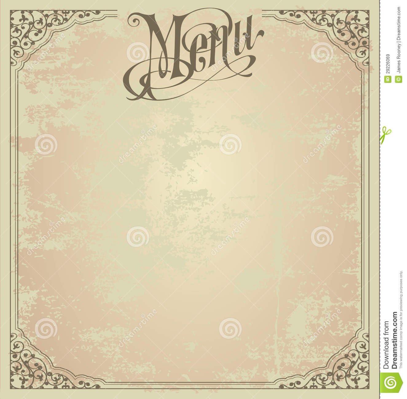 Blank Menu Template Free 6 Best Of Printable Blank Restaurant Menus Free