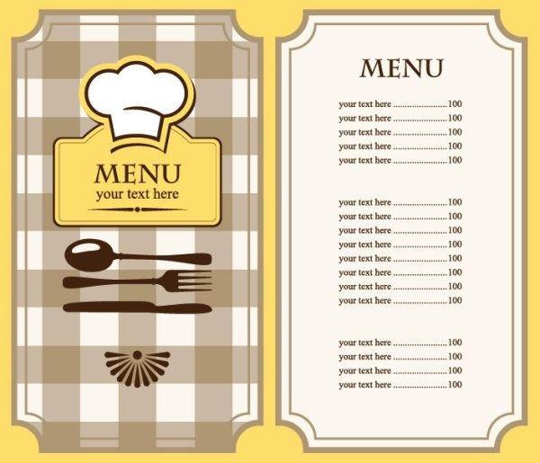 Blank Menu Template Free Free Restaurant Menu Template