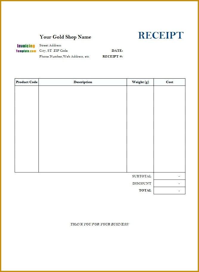 Blank Money order Template 5 Blank Reciept