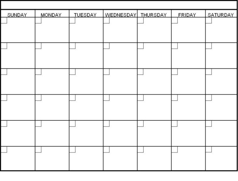 Blank Monthly Calendar Template Pdf Blank Calendar 2018 Word Pdf Printable Templates