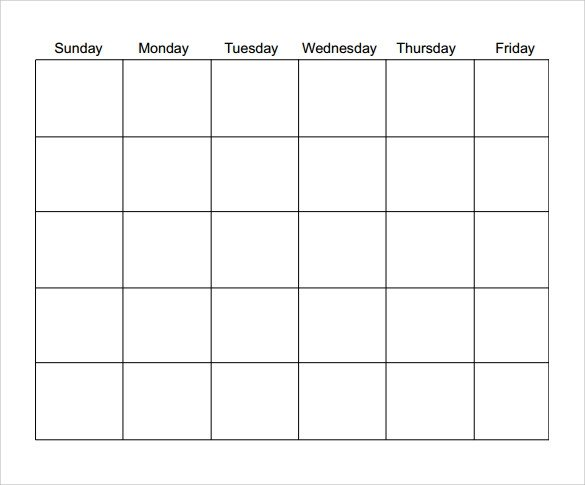 Blank Monthly Calendar Template Pdf Blank Calendar Template 15 Download Free Docements In Pdf