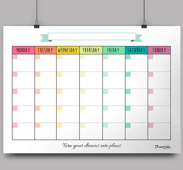 Blank Monthly Calendar Template Pdf Monthly Templates In High Pdf Files to Be Printed On