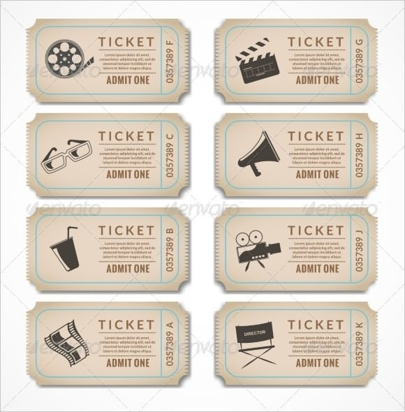 Blank Movie Ticket Template 17 Sample Blank Ticket Templates Psd Ai Word