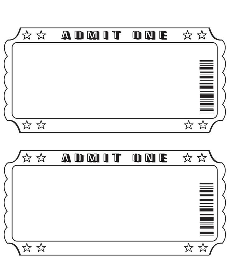 Blank Movie Ticket Template 25 Best Ideas About Ticket Template On Pinterest