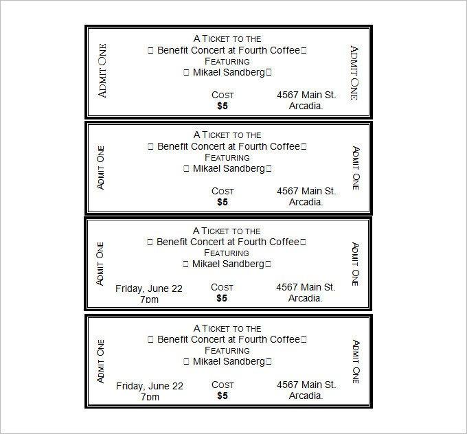 Blank Movie Ticket Template 34 Movie Ticket Templates Psd Ai Word