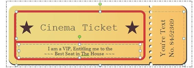Blank Movie Ticket Template 40 Free Editable Raffle & Movie Ticket Templates