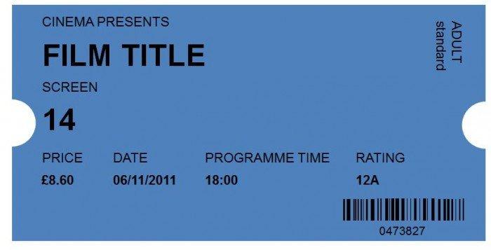 Blank Movie Ticket Template 41 Free Editable Raffle & Movie Ticket Templates Free