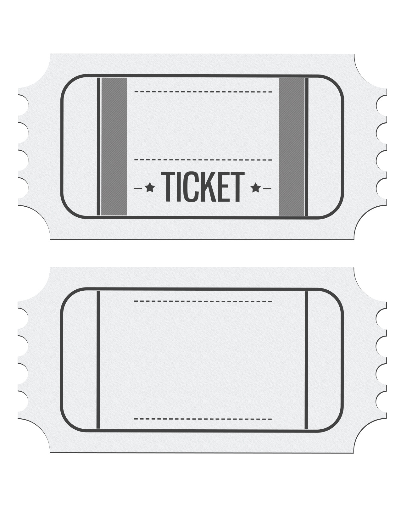 Blank Movie Ticket Template Blank Movie Ticket Invitation Template