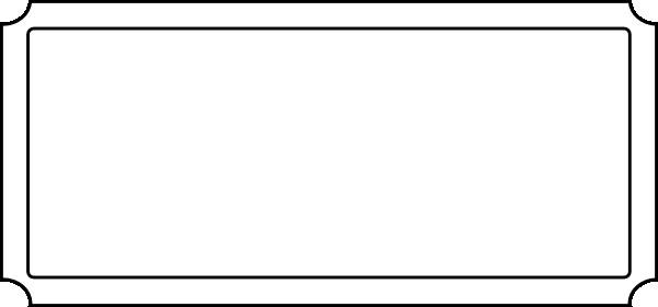 Blank Movie Ticket Template Blank Movie Ticket Stub Clip Art at Clker Vector