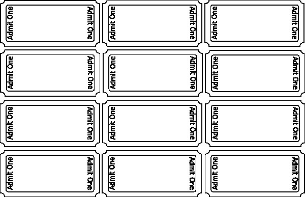 Blank Movie Ticket Template Blank Movie Ticket Template