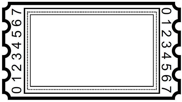 Blank Movie Ticket Template Blank Ticket Clipart – Gclipart
