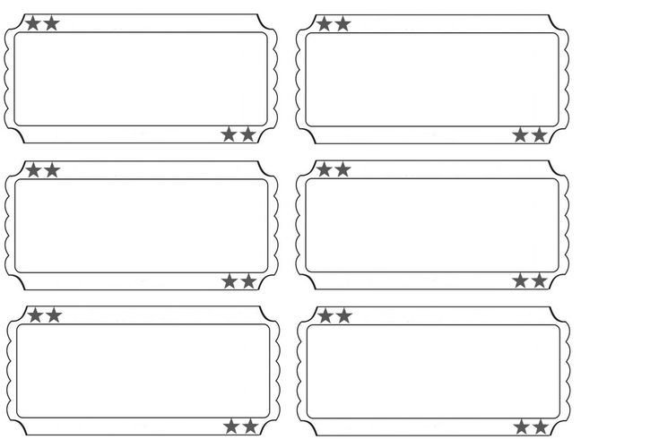Blank Movie Ticket Template Printable Raffle Tickets Blank Kids Google Search