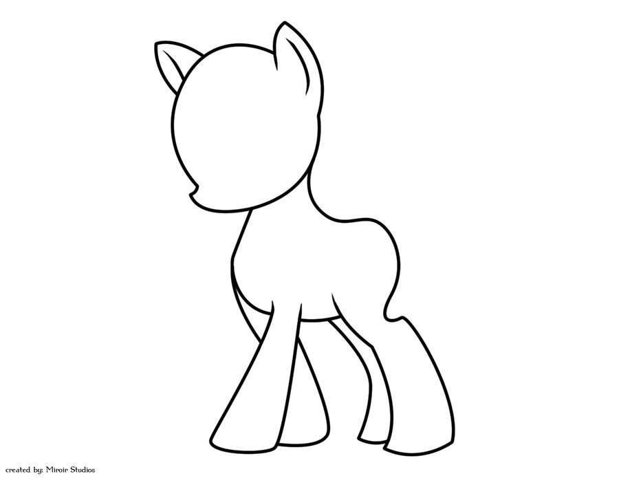 Blank My Little Pony Template Blank Mlp G4 Lineart by Strawberrysoulreaper On Deviantart