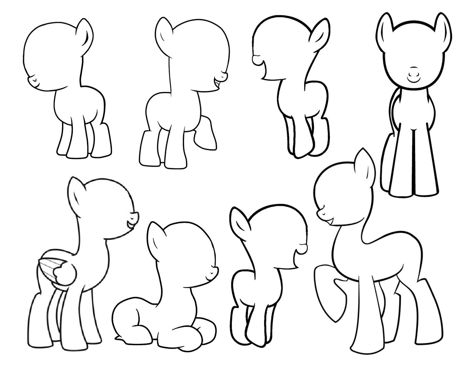 Blank My Little Pony Template Doodlecraft Design and Draw Your Own My Little Pony