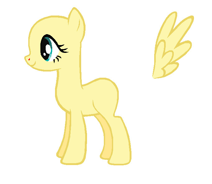 Blank My Little Pony Template Fluttershy Template by Durpy On Deviantart