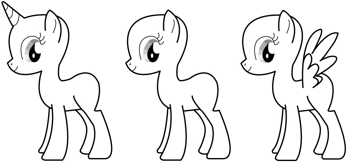 Blank My Little Pony Template Image Mlp Fim Base by Kitty Kitty Koneko D35wb4l