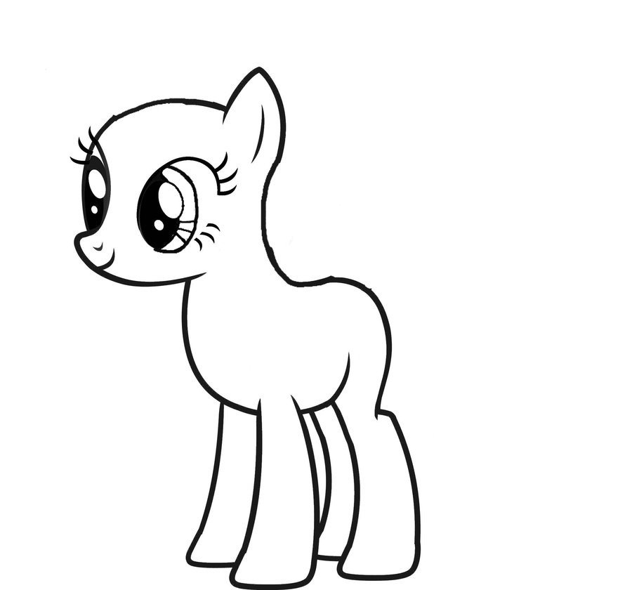 Blank My Little Pony Template Mlp Base 1 by Crabula290e On Deviantart
