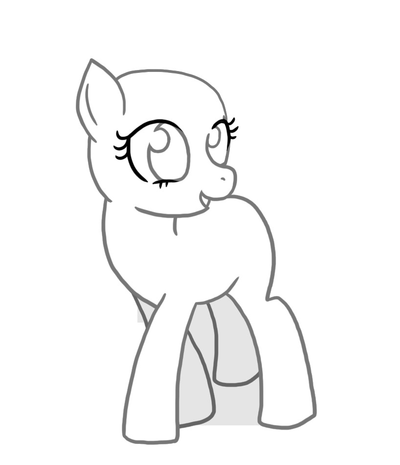 Blank My Little Pony Template Mlp Fim Template Maybe Put On Tshirts and Have Kids