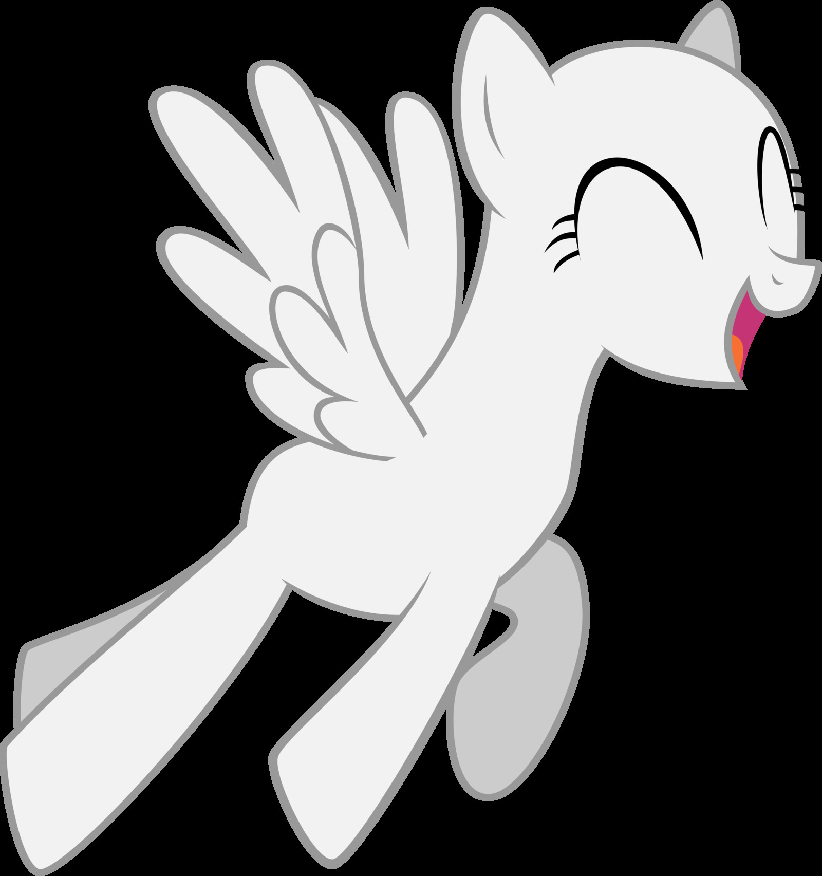 Blank My Little Pony Template Mlp Pegasus Base Google Search Mlp Bases
