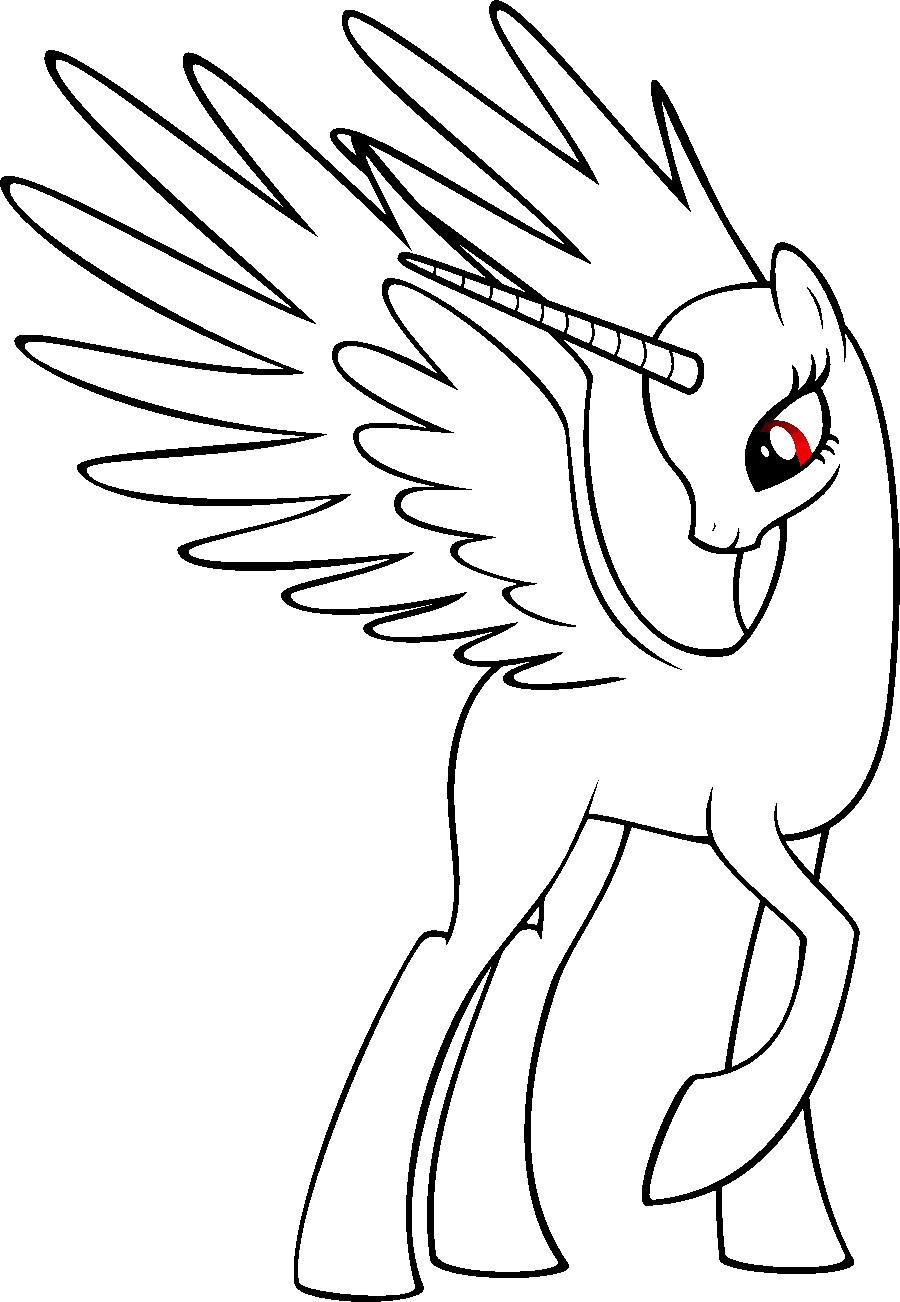 Blank My Little Pony Template Mlp Princess Base by Randomdraggonviantart On