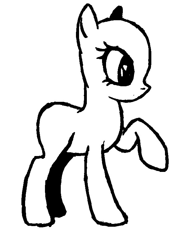 Blank My Little Pony Template Ms Paint Mlp Body Coloring Coloring Pages