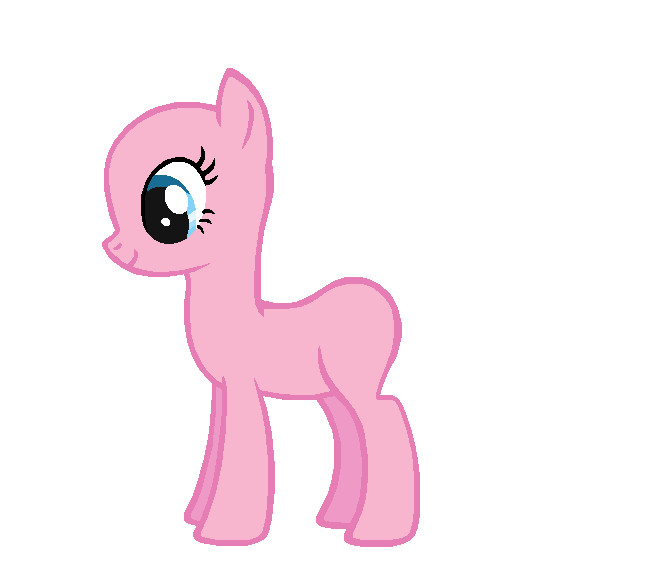 Blank My Little Pony Template Pinkie Pie Template by Durpy On Deviantart