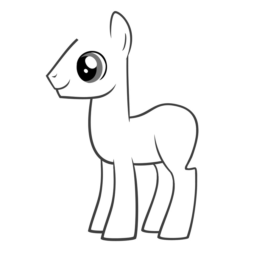 Blank My Little Pony Template Pony Template by Zeke Staright On Deviantart